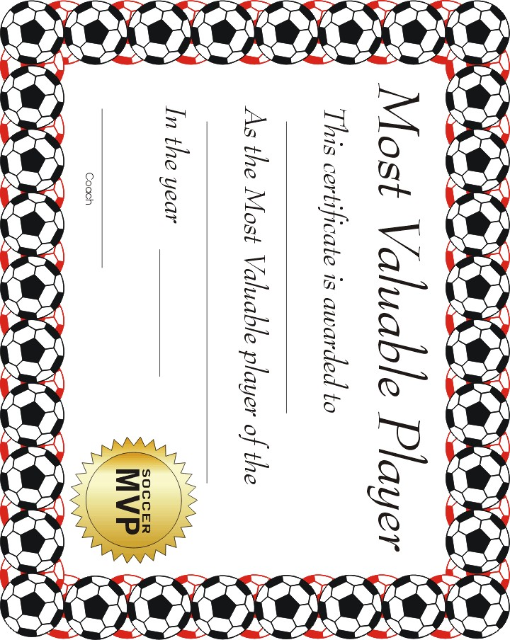 Free printable sports lolport for Soccer award certificate templates free
